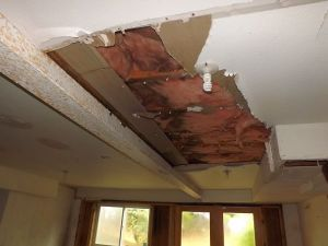 Hole in the ceiling...